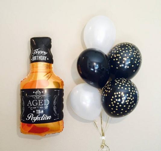 "Воздушный шарик в виде бутылки ""Виски"" - фото 1"