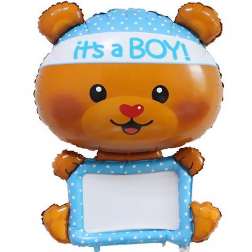 """Воздушный шар с любой надписью """"Маленький мишка"""" - фото 1"""