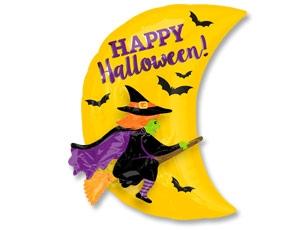 """Шар на Хэллоуин """"Ведьма на метле"""" - фото 1"""