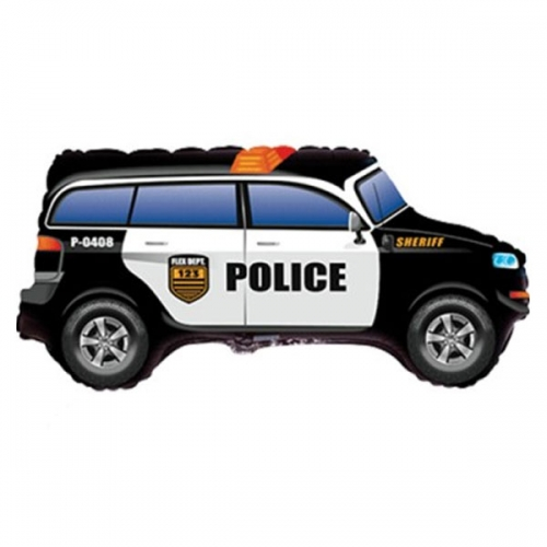 """Фольгированный шар """"Полицейская машина"""" с гелием - фото 1"""