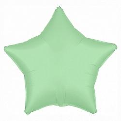 Воздушная гелиевая фольгированная звезда, Мятный - фото 1