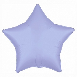 Шар фольгированная звезда, Лавандовый - фото 1