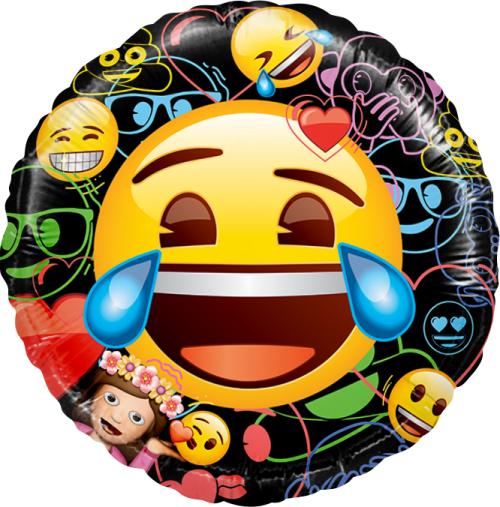 """Черный фольгированный шар """"Emoji"""" в черном цвете - фото 1"""