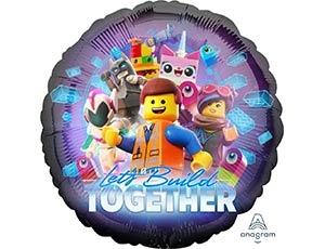 """Гелиевый шар в форме круга """"Лего""""из фольги - фото 1"""